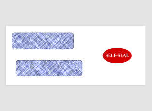 "CE05BS Double-Window Envelope, 3-3/4"" x 8-5/8"", Self-Seal"