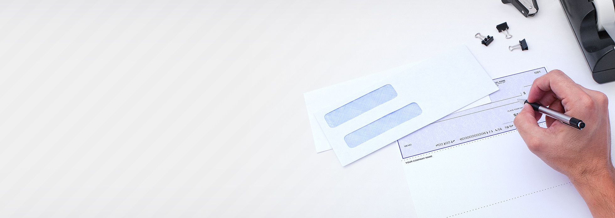 Don't forget security envelopes. et compatible security tinted envelopes for your checks and forms. Shop Envelopes